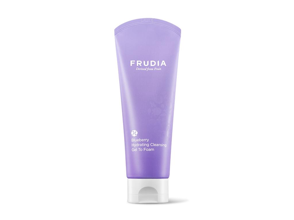 FRUDIA - Blueberry Hydrating Cleansing Gel To Foam - Nawilżająca pianka do twarzy na bazie jagód