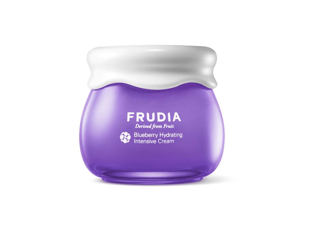 FRUDIA - Blueberry Hydrating Intensive Cream - Intensywnie nawilżający krem do twarzy na bazie jagód