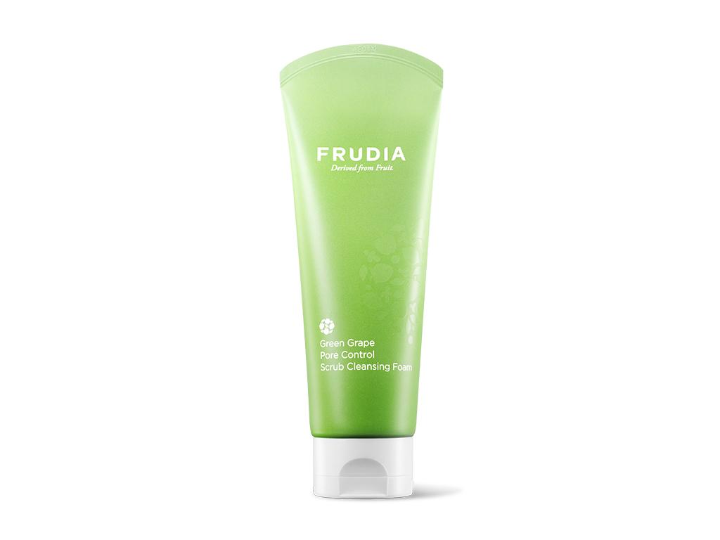 FRUDIA - Green Grape Pore Control Scrub Cleansing Foam - Odświeżająca i oczyszczająca pianka do twarzy