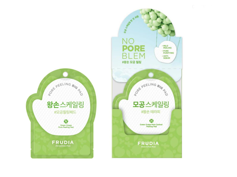 FRUDIA - Green Grape Pore Peeling Pad - Oczyszczający płatek do peelingu skóry