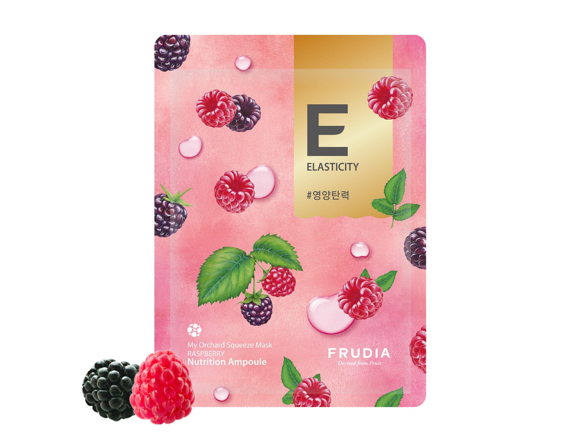 FRUDIA - My Orchard Squeeze Mask Raspberry Wine - Nawilżająco-przeciwzmarszkowa maska na bazie malin