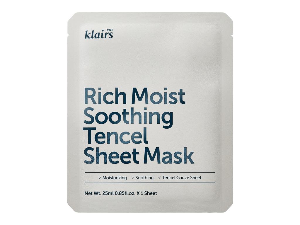 KLAIRS - Rich Moist Soothing Tencel Sheet Mask - Nawilżająca i łagodząca maseczka z aloes