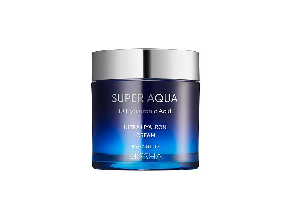 MISSHA - Super Aqua Ultra Hyalron Cream - Lekki krem z kwasem hialuronowym na dzień i na noc