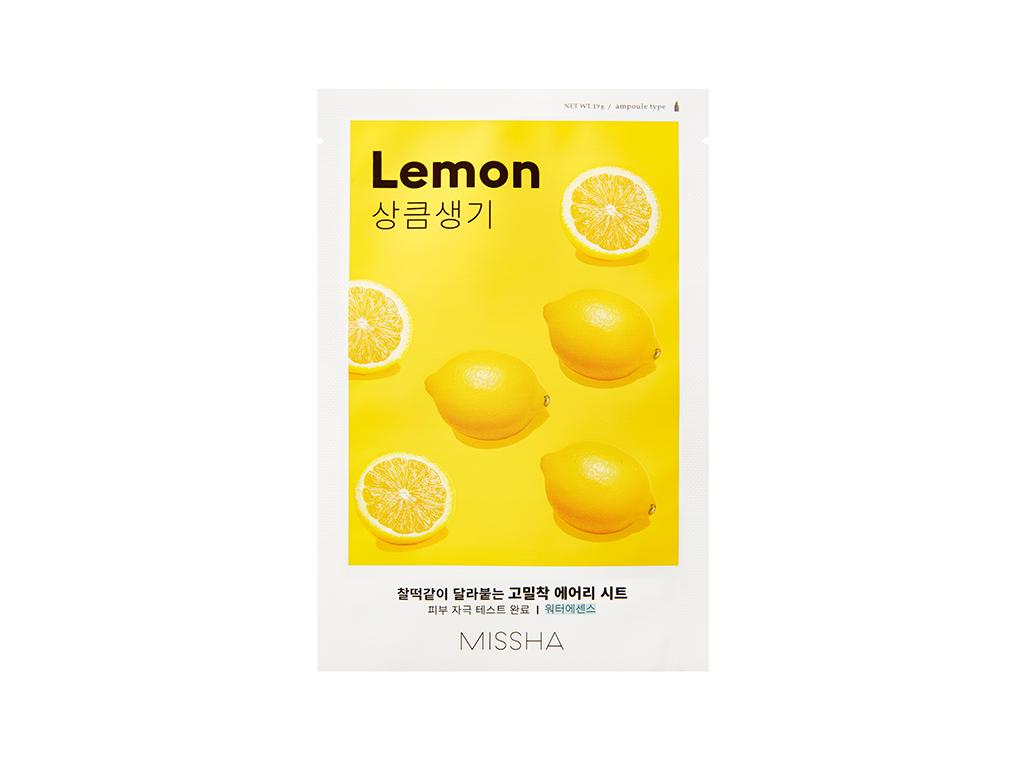 MISSHA - Airy Fit Sheet Mask Lemon - Rozjaśniająca maska z ekstraktem cytryny