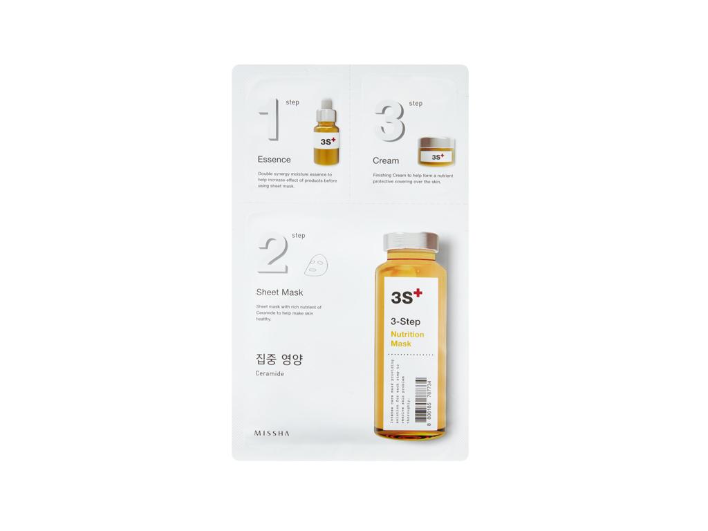 MISSHA - 3 step Nutrition Mask - Odżywcza kuracja 3 Step z ceramidami
