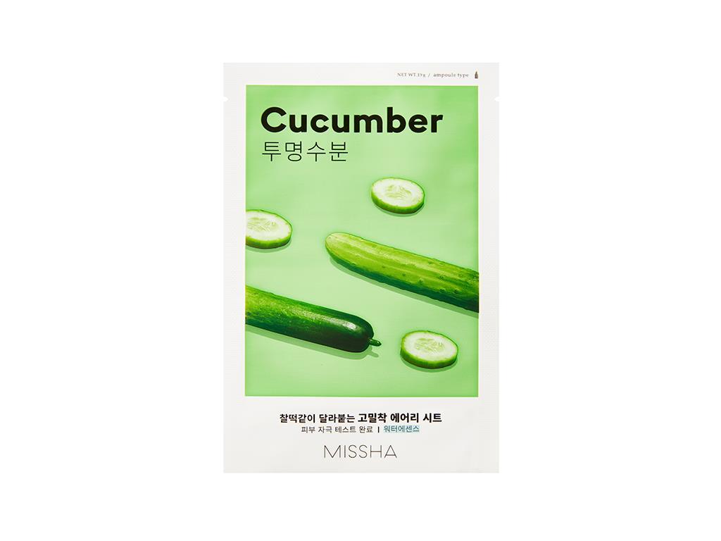 MISSHA - Airy Fit Sheet Mask Cucumber - Nawilżająca maska na bazie ogórka