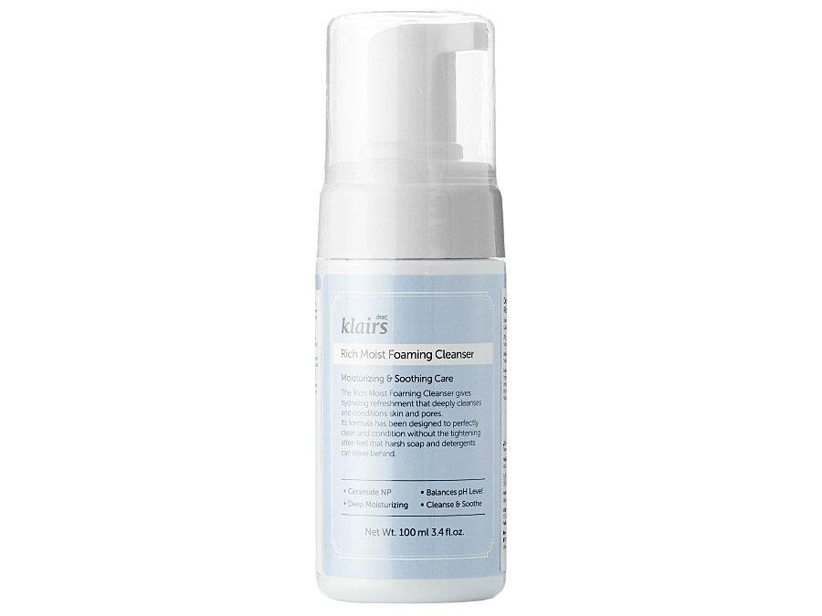 KLAIRS - Rich Moist Foaming Cleanser - Delikatna pianka do oczyszczania twarzy