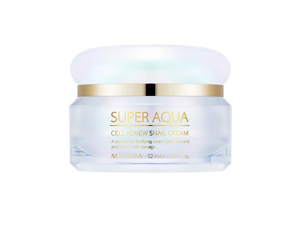 MISSHA- Super Aqua Cell Renew Snail Cream - Regenerujący krem z ekstraktem śluzu ślimaka